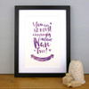 The Most Amazingly Awesome Nan Personalised Print in Purple Plush by Dig The Earth