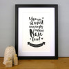 The Most Amazingly Awesome Nan Personalised Print in Black by Dig The Earth