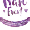 The Most Amazingly Awesome Nan Personalised Print in Purple Plush (Detail) by Dig The Earth