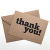 Thank You - Set Of 12 Note Cards by Dig The Earth