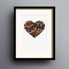 Button Heart in Multi print by Dig The Earth