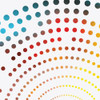 Dotty Square print (detail) by Dig The Earth