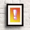 Pop print in Yellow/Orange by Dig The Earth