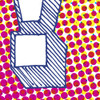 Pop print in Magenta/Yellow (detail) by Dig The Earth