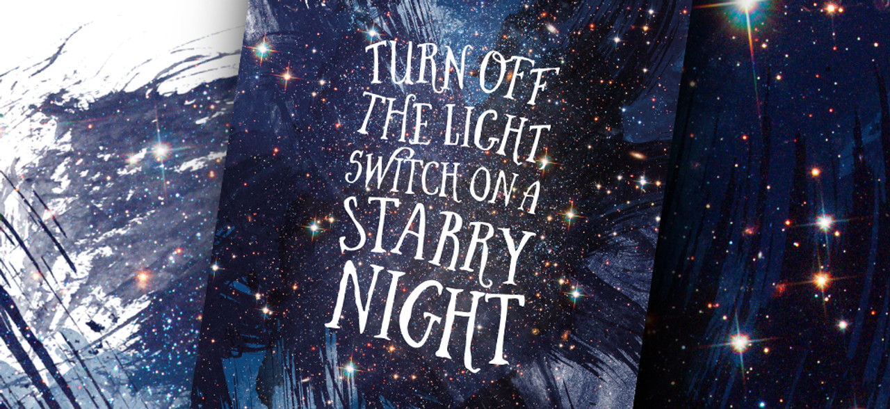 Switch On A Starry Night Print by Dig The Earth