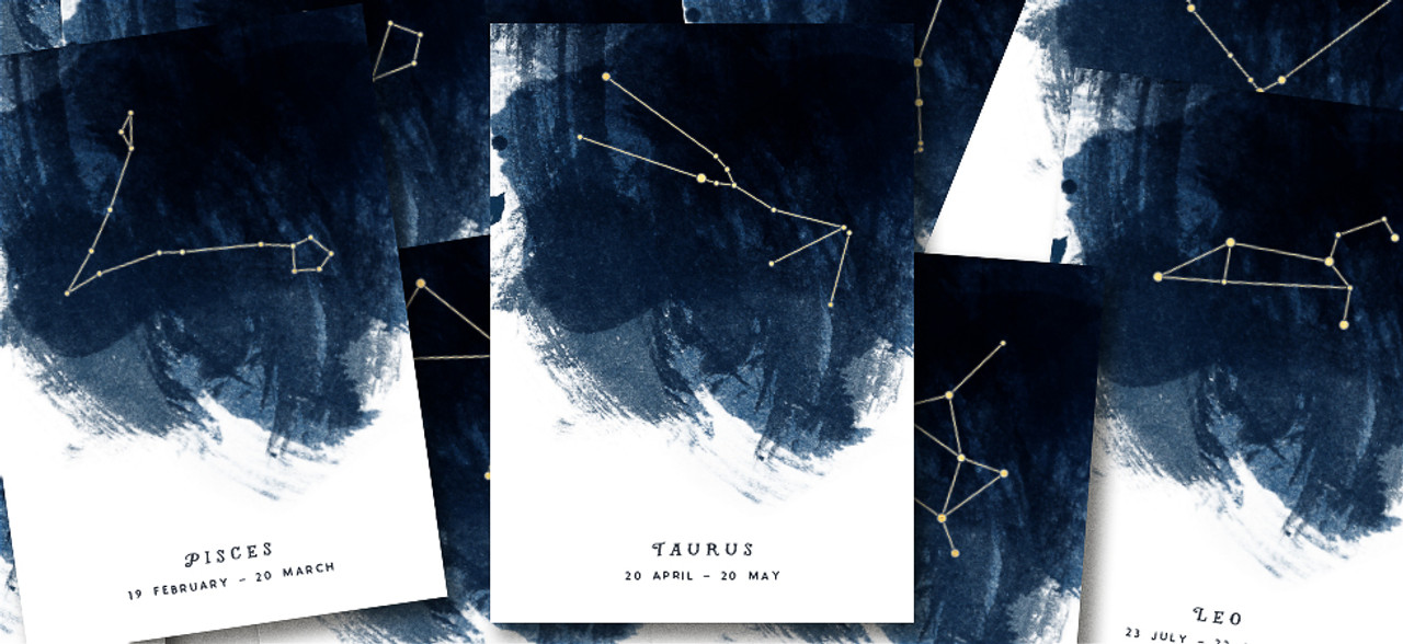 Constellation Birthday Greeting Card by Dig The Earth