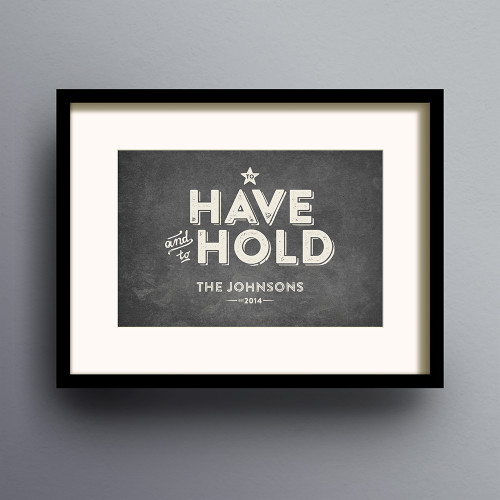 To Have And To Hold Print 'Vintage' colour option by Dig The Earth