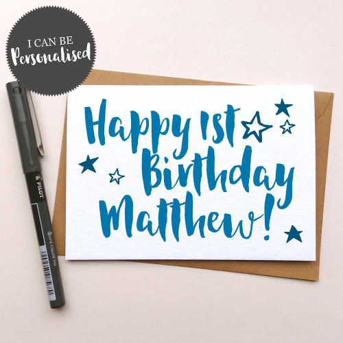Happy Birthday – Personalised Handmade Birthday Greeting Card by Dig The Earth