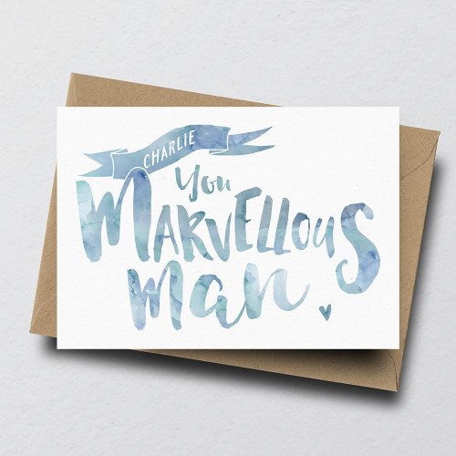 You Marvellous Man Personalised Greeting Card by Dig The Earth