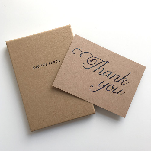 Thank You - Set Of 12 Script Note Cards by Dig The Earth