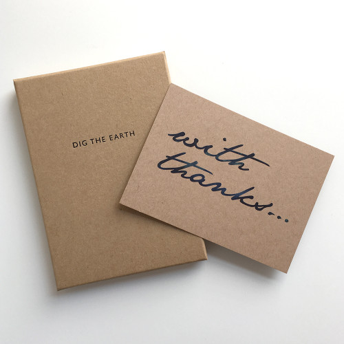 With Thanks - Set Of 12 Thank You Note Cards by Dig The Earth
