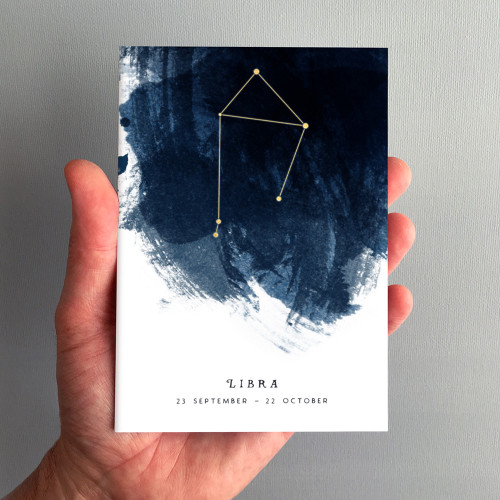 Libra Constellation Zodiac Star Sign Birthday Card by Dig The Earth