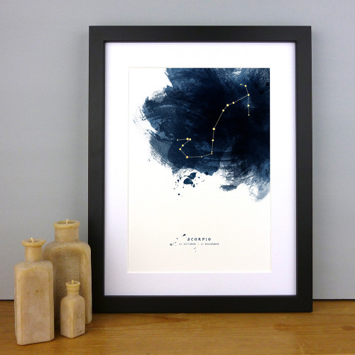 Constellations Personalised Zodiac Star Sign Print by Dig The Earth