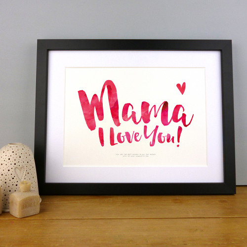 Mama I Love You Personalised Print by Dig The Earth