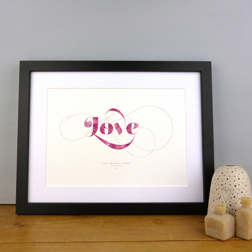 Love Personalised Print (Berries Colour Option) by Dig The Earth