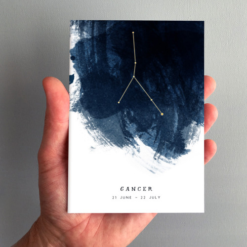 Cancer Constellation Zodiac Star Sign Birthday Card by Dig The Earth