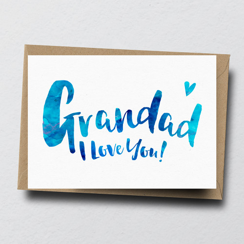 Grandad I Love You Greeting Card by Dig The Earth