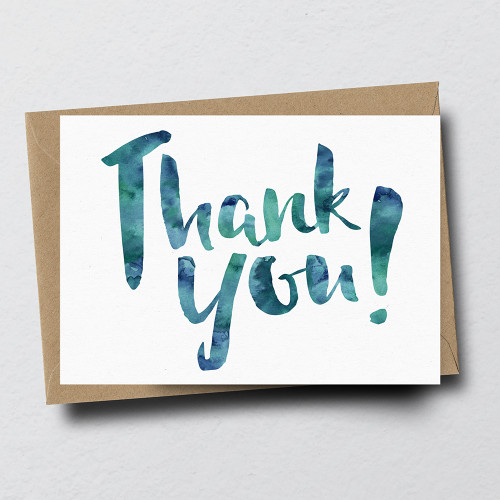 Thank You Greeting Card by Dig The Earth