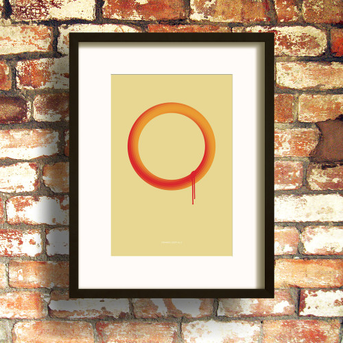 Orange Loop No.2 print by Dig The Earth