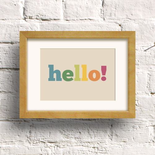 Hello print by Dig The Earth