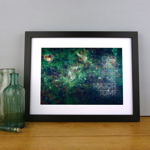 Space Oddity print by Dig The Earth