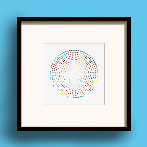 Dotty Square print by Dig The Earth