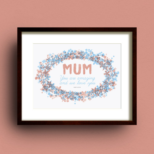 Mummy personalised print by Dig The Earth