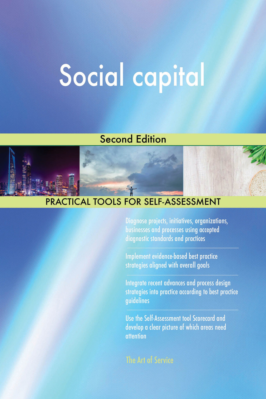 9780655194736 Social capital Second Edition by Blokdyk, GerardusThe Art of Service