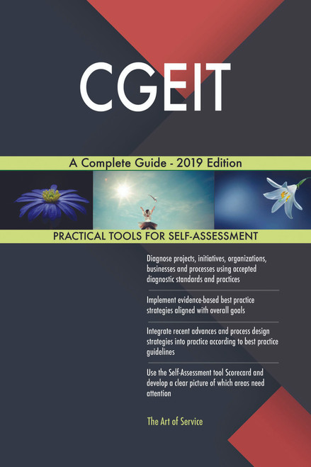 CGEIT A Complete Guide - 2019 Edition
