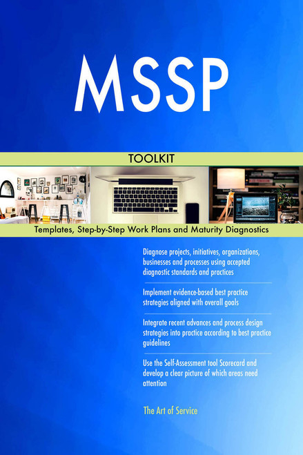 MSSP Toolkit: best-practice templates, step-by-step work plans and maturity diagnostics
