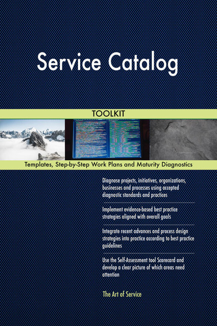 Service Catalog Toolkit: best-practice templates, step-by-step work plans and maturity diagnostics