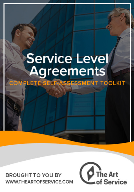 Service Level Agreements Toolkit