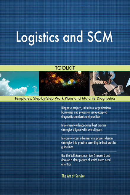 Logistics and SCM Toolkit: best-practice templates, step-by-step work plans and maturity diagnostics