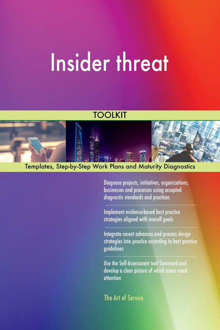 Insider threat Toolkit: best-practice templates, step-by-step work plans and maturity diagnostics