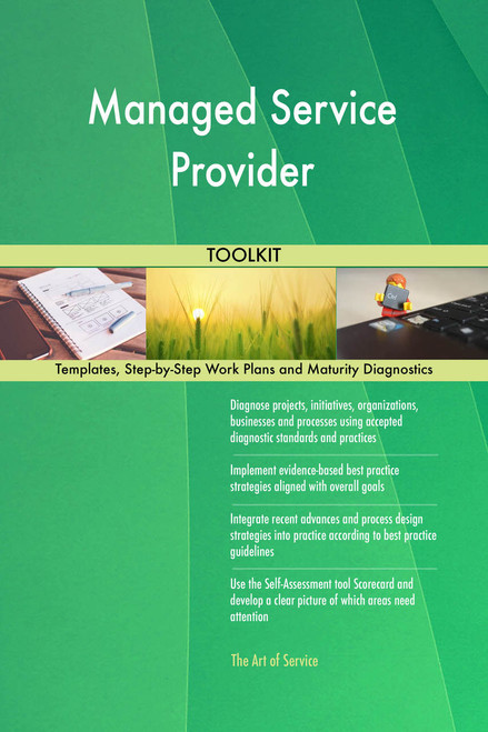 Managed Service Provider Toolkit: best-practice templates, step-by-step work plans and maturity diagnostics