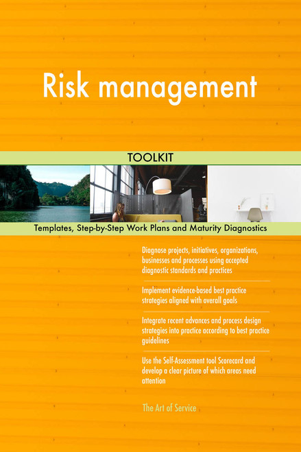 Risk management Toolkit: best-practice templates, step-by-step work plans and maturity diagnostics