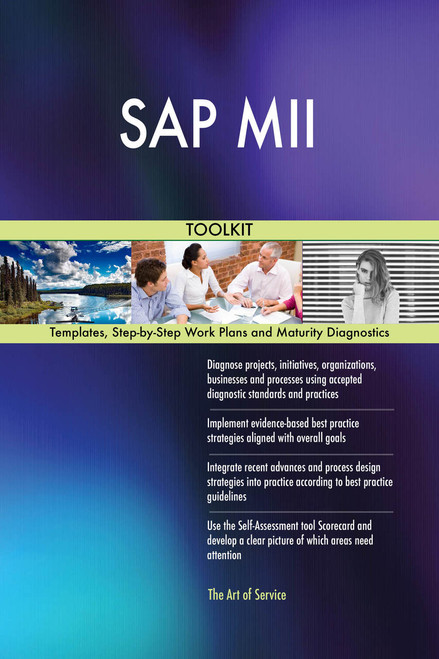 SAP MII Toolkit: best-practice templates, step-by-step work plans and maturity diagnostics
