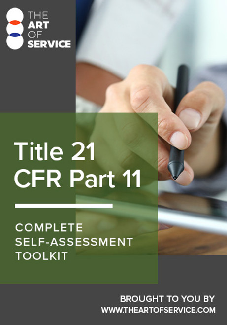 Title 21 CFR Part 11 Toolkit