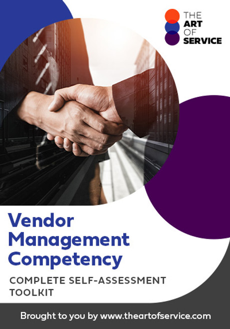 Vendor Management Competency Toolkit