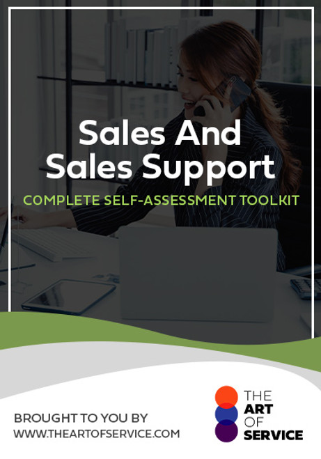 Sales And Sales Support Toolkit