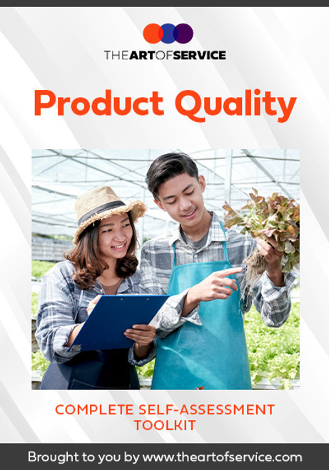 Product Quality Toolkit