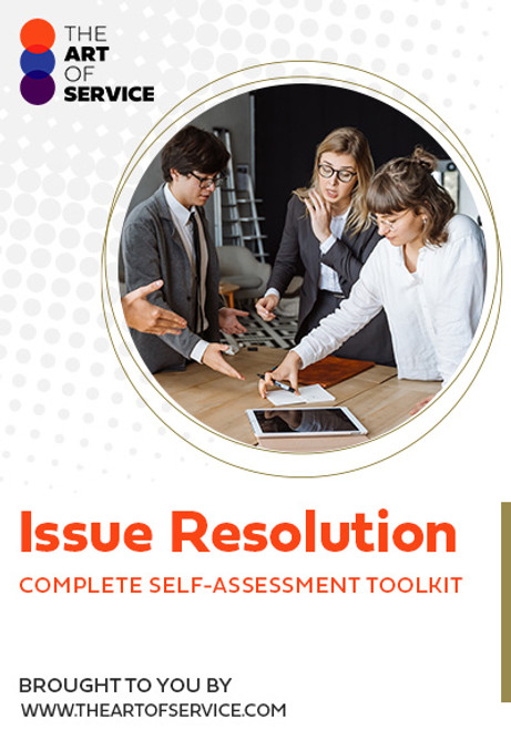 Issue Resolution Toolkit