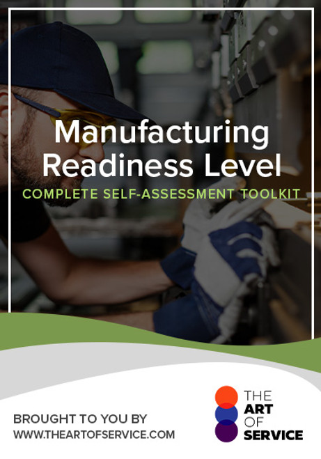 Manufacturing Readiness Level Toolkit