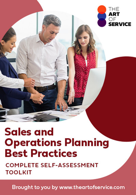 Sales And Operations Planning Best Practices Toolkit