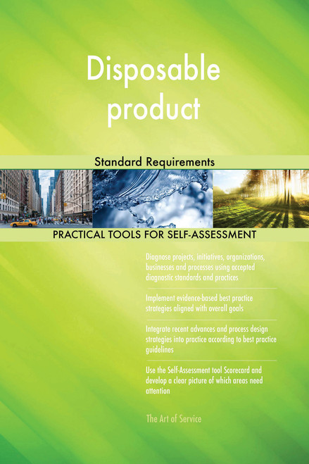Disposable product Standard Requirements