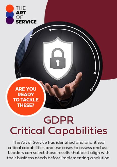 GDPR Critical Capabilities