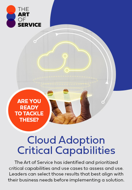 Cloud Adoption Critical Capabilities