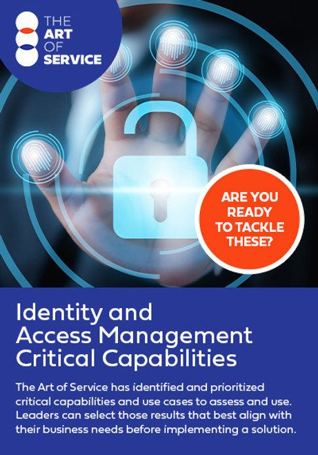 Identity and Access Management Critical Capabilities