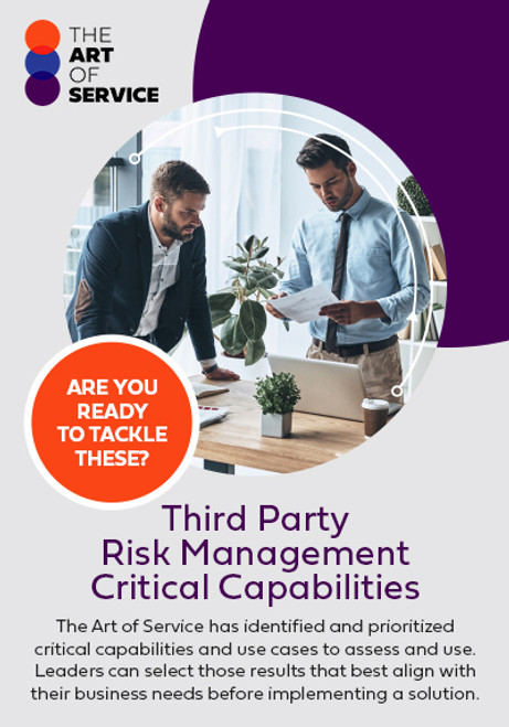 Third Party Risk Management Critical Capabilities