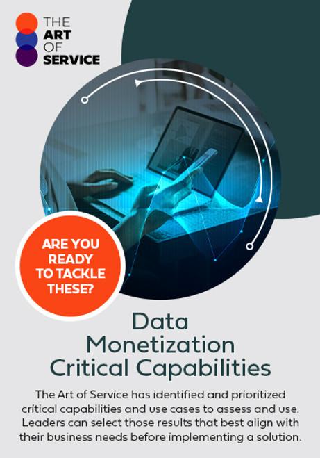Data Monetization Critical Capabilities